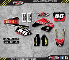 Custom Graphics Full Kit For Honda CR 125 - 2000 - 2001 PYRO Style Stickers