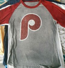 Philadelphia Phillies Womens Classic Logo Shirt Medium majestic threads
