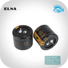 2/10pcs ELNA 50V4700UF LAO FOR AUDIO 35*30mm Audio Electrolytic Capacitor