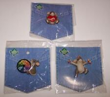 Charming Tails Pins - Set of 3 on Blue Card - All Different - New in Package