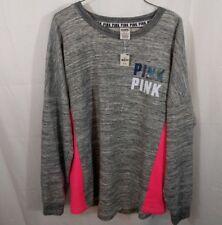 Victoria's Secret PINK Bling Holographic Foil Varsity Crew Sweatshirt Medium NWT