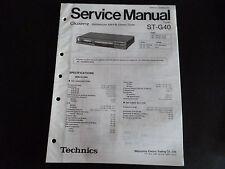 Original Service Manual Technics Stereo Tuner ST-G40