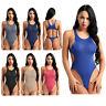 Women One-Piece Swimwear High Cut Thong Monokini Yoga Leotard Bodysuit Swimsuit