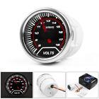2 52mm Led Pointer Auto Car Volt Meter Voltmeter Voltage Gauge Smoke Face 8-18v