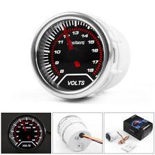 """2"""" 52mm LED Pointer Auto Car Volt Meter Voltmeter Voltage Gauge Smoke Face 8-18V"""