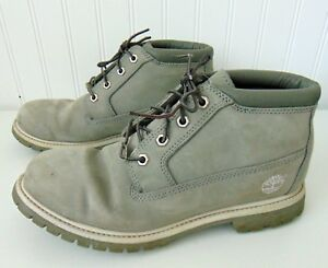 Timberland Grey Waterproof Leather Chukka Boots Shoes Womens 9.5 M