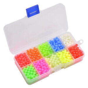 1000pcs 5mm Fishing Beads Round Float Glow Beads Assorted Fishing Rig Bait Eggs