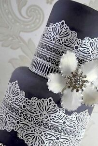 SERENITY 2 STRIPS, Edible Cake Lace.      GREAT  PRICES    Great Designs