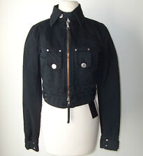 DSQUARED² Black Denim Jean Coat Jacket 44 8