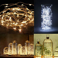 20/30/40/50/100 LED String Copper Wire Fairy Lights Battery Powered Waterproof @