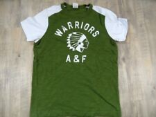 ABERCROMBIE&FITCH schönes Shirt grün weiß Gr. M TOP BB1117