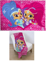 Shimmer and Shine Zahramay Throw Blanket - Soft Warm Snuggle Wrap Around Fleece