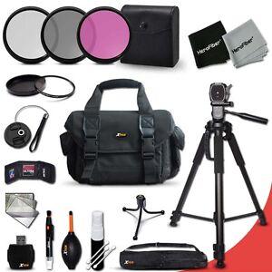 Canon EOS 7D Essential 19 Piece Accessory Kit w/ Large Case +Tripod +MORE