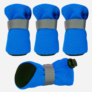 Non Slip Pet Dog Shoes for Small Dogs Reflective Warm Padded Paw Boots Booties