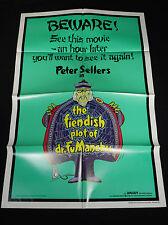 THE FIENDISH PLOT OF DR. FU MANCHU 1980 * PETER SELLERS * 1 SHEET * MINT UNUSED!