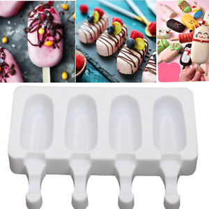 Silicone Ice Cream Mould DIY Popsicle Lolly Frozen Dessert Maker Cakesicles Tray