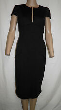 NWT Glam Couture Solid Black Sexy Pin Up Stretch Pencil Wiggle Dress S NEW