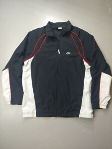 Nike Zip Up Windbreaker Jordan colors jacket mesh lined large VTG retro track