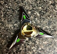 NARUTO Silver Triangle Tri-Spin Fidget Spinner Toy 🇺🇸US SELLER FAST SHIP ✈️