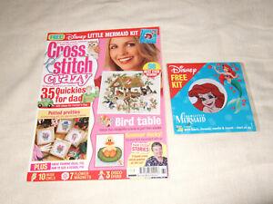 Cross Stitch Crazy Magazine July 2004 FREE DIsney Little Mermaid Kit 98 Designs