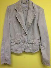 Ladies Cordoroy Jacket, Moto, Size 12, Beige