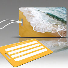 TagCrazy Beach Waves Luggage Tags, Durable Plastic Loops, 1 Pack