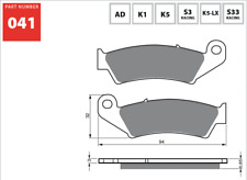 Front Sintered Brake Pads Fits KAWASAKI KX250F 2014 2015 2016 2017 2018 SF8