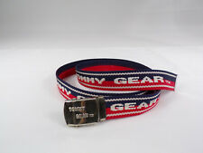 "Vintage Tommy Hilfiger Gear Web Belt Red White Blue TOMMY GEAR Fit up to 46"" EUC"