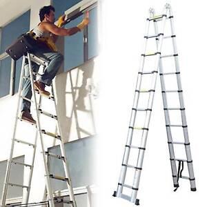6.2m Extendable Frame Telescopic Ladder Multi-Purpose Aluminum Folding Steps