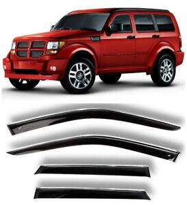 Chrome Trim Side Window Visors Guard Vent Deflectors For Dodge Nitro 2006-2011