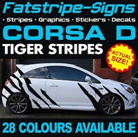 VAUXHALL CORSA D TIGER STRIPES GRAPHICS STICKERS DECALS OPEL VXR SXI GSI 1.2 1.6