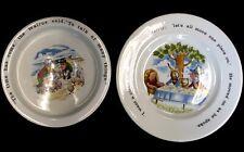 New listing 2x Vtg Johnson Bros Ironstone Alice In Wonderland Collector Plate & Bowl - B83