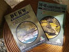 ITALERI DUKW + M-8 GREYHOUND REGLES POUR AMPHIBIES et VEHICULE DE RECONNAISSANCE