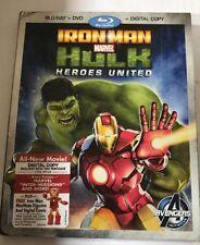 Iron Man & Hulk - Heroes United Blu Ray/DVD (2013) Marvel * Brand New * Avengers