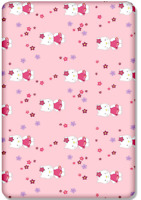 BABY FITTED COT BED SHEET PRINTED 100% COTTON MATTRESS 140x70cm Hello Kitty