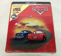 CARS Steelbook Edition (4K Ultra HD Disc + Blu-Ray + Digital) Disney Pixar