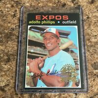 2020 Topps Heritage Stamped Buyback Adolfo Phillips 50th Anniversary Expos 1971