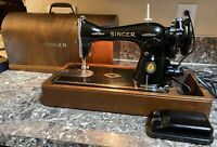 Singer 15 91 Sewing Machine 1950 Centennial + Case Pedal Serviced Works Used