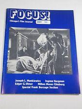 Focus! Magazine: Chicago's Film Journal- Joseph Mankiewicz- Summer 1973