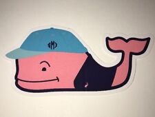 "Authentic Vineyard Vines Passport To The Good Life Whale Sticker 4 1/2"" X 1 7/8"""