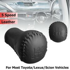 5 Speed Manual Gear Shift Knob Leather Black New For Toyota Lexus Scion Durable