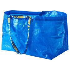 IKEA FRAKTA LARGE BLUE REUSABLE CARRIER BAG 71L LAUNDRY HOLIDAY GARBAGE STORAGE