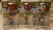 FACTORY SEALED Nintendo AMIIBO Animal Crossing Series Resetti + Mable + Tom Nook