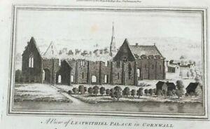 ANTIQUE PRINT CORNWALL LESTWITHIEL PALACE C1780 LARGE PRINT PUBLISHED ALEX HOGG