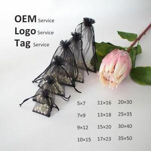 Multi Taille Organza Sac Pour Jewelries Emballage Perruque Lash Cordon Pochettes