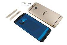 HTC One M8 Schale LCD Display Cover Komplett Akku Deckel Gehäuse Original gold