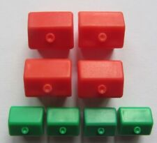 4 x HOUSES 4 x HOTELS Classic Monopoly Board Game Waddingtons REPLACEMENTS SPARE