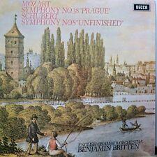 """SXL 6539 Mozart  """"Prague"""" / Schubert """"Unfinished"""" Symphonies / Britten ECO"""