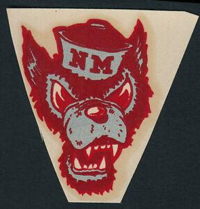 University of New Mexico RARE 1940's College Decal VTG Lobos Louie Mascot UNM A1