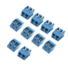 20PCS PCB Mount Terminal Block Connector 5.08mm 2-Pin 2 way Screw Pitch Panel